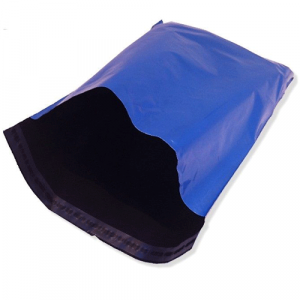 metallic blue mailing bags