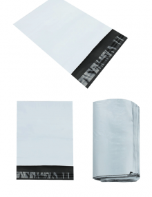 white mailing bags