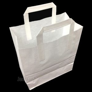 White SOS Paper Bags