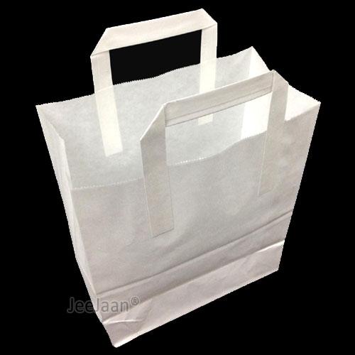 White SOS Paper Bags